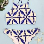 f8f4949a84 Cupshe Sandy Sea Floral Lace Up Swimsuit | Online Fashion Stores ...